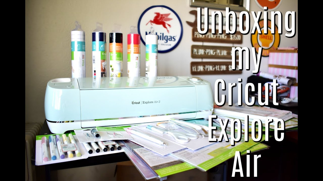 Unboxing The Cricut Explore Air 2 Everything Starter Kit Hey Crafty Hannah Sue Youtube