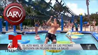 Precauciones en las piscinas por niveles altos de cloro | Al Rojo Vivo | Telemundo