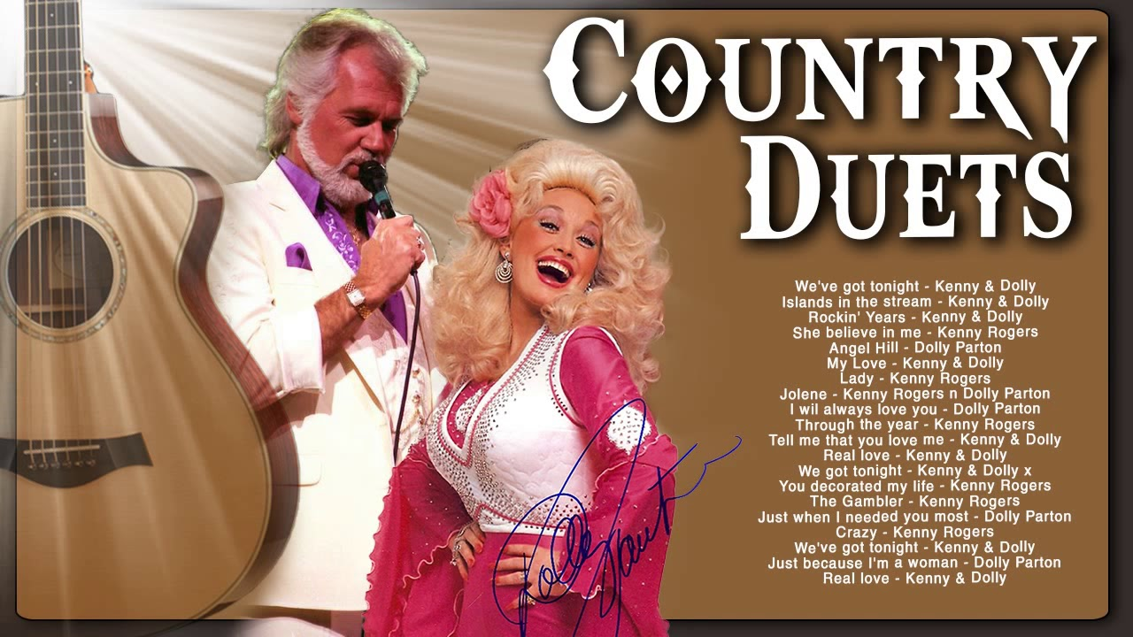 Kenny Rogers, Dolly Parton Greatest Hits Country Music ...