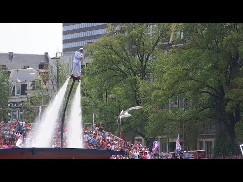 Amsterdam Gay Pride 2015 Flyboard show (Jet Water Show)