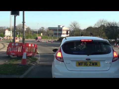Derriford Road Works Plymouth 17th May 2017