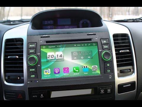 Штатная магнитола Toyota Land Cruiser Prado 120, Lexus GX (2002-2009) Android GF-7027