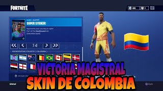 VICTORIA in Solitaire with SKIN DE COLOMBIA! Fortnite Battle Royale