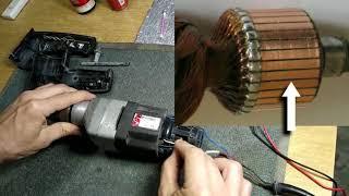 Неге искрят щеткалар арналған электр ИЭ 1505 БЭ Why spark қылқаламдары on electric drills