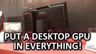 Desktop Video Card in an AIO!? - MSI AX24 AIO & Updated Gaming Dock Mini