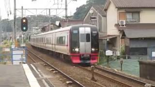 名鉄2200系2205F新日鉄前駅高速通過!