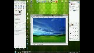 Видео урок по созданию стильных обоев с помощью GIMP