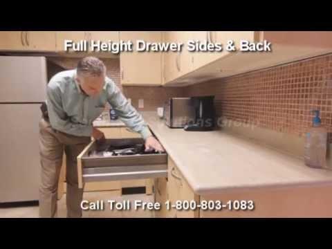 Modular Millwork Self Closing Drawers Full Extension