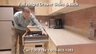 Modular Millwork Self Closing Drawers | Full Extension Soft Closing Drawer Slides Casework Cabinets Thumbnail