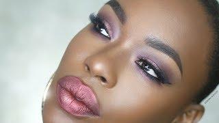 Dark Skin Valentine's Day makeup FULL FACE Smashbox