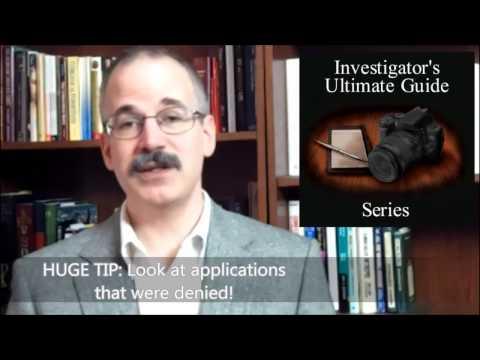 Search Warrants As A Secret Information Source For Private Investigators.