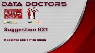 [836.22 KB] Data Doctors Suggestion 821 Heading starts with blank