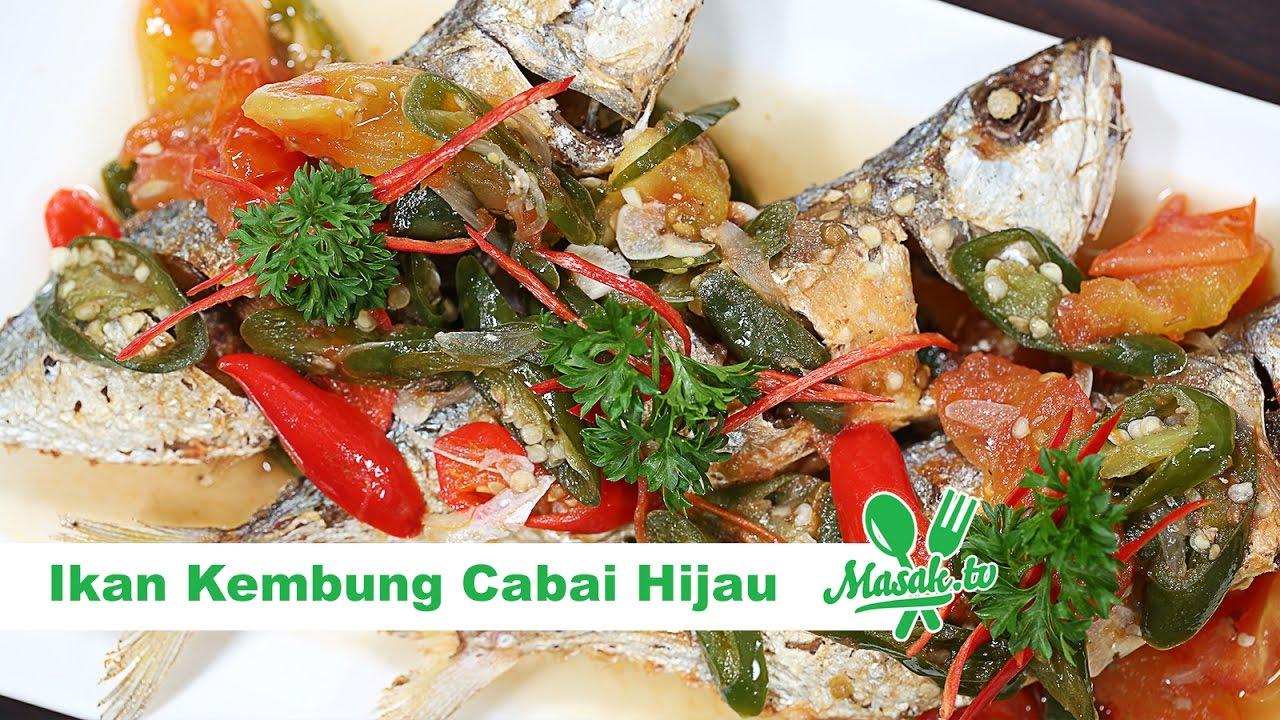 Ikan Kembung Cabai Hijau Resep 357 Youtube