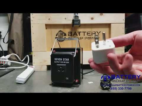 How To Use A Step Up/Down Transformer