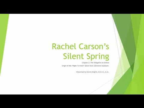 silent spring by rachel carson rhetoric Free essay: analysis of silent spring by rachel carson silent spring is a novel written by a woman named rachel carson, which was published in 1962 with.