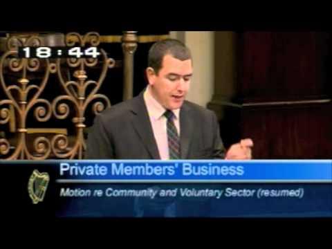 Deputy Michael McCarthy speaking on Community & Voluntary Sector