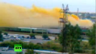 chemical poison yellow cloud chokes russian urals