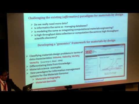 Materials Genome Initiative Session 1: Data Management and D