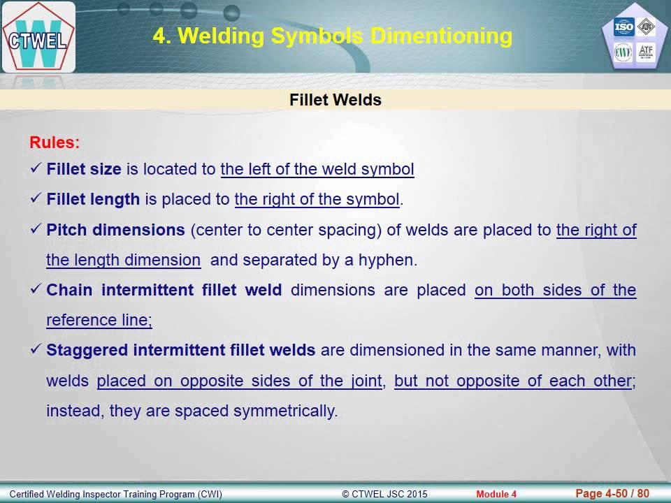 Awsctwel Cwi Module 4 Weld Joint Geometry Welding Symbols Youtube