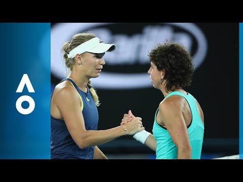 Carla Suárez Navarro v Caroline Wozniacki match highlights (QF) | Australian Open 2018