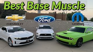 Mustang, Camaro, or Challenger  Which is the best base muscle car?