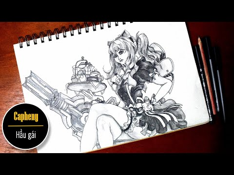 Vẽ capheny hầu gái liên quân mobile (How to draw capheny Arena of valor) | Au tri art