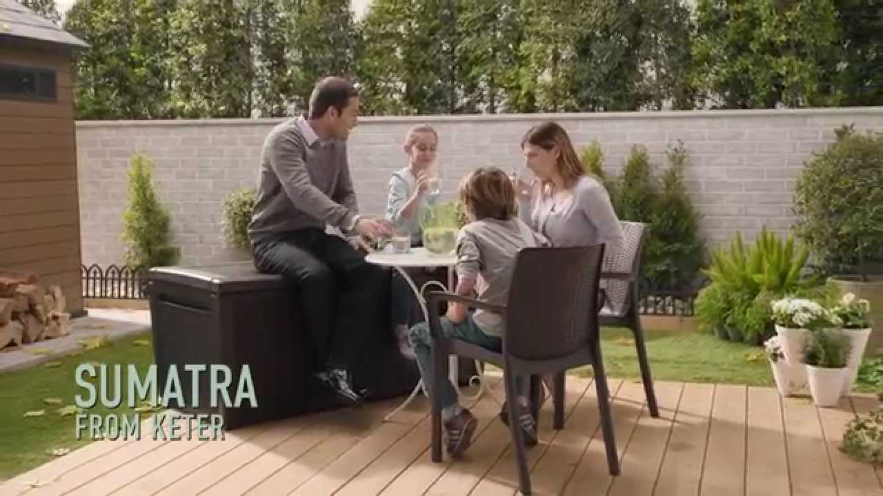 keter deck boxes sumatra deck box youtube. Black Bedroom Furniture Sets. Home Design Ideas