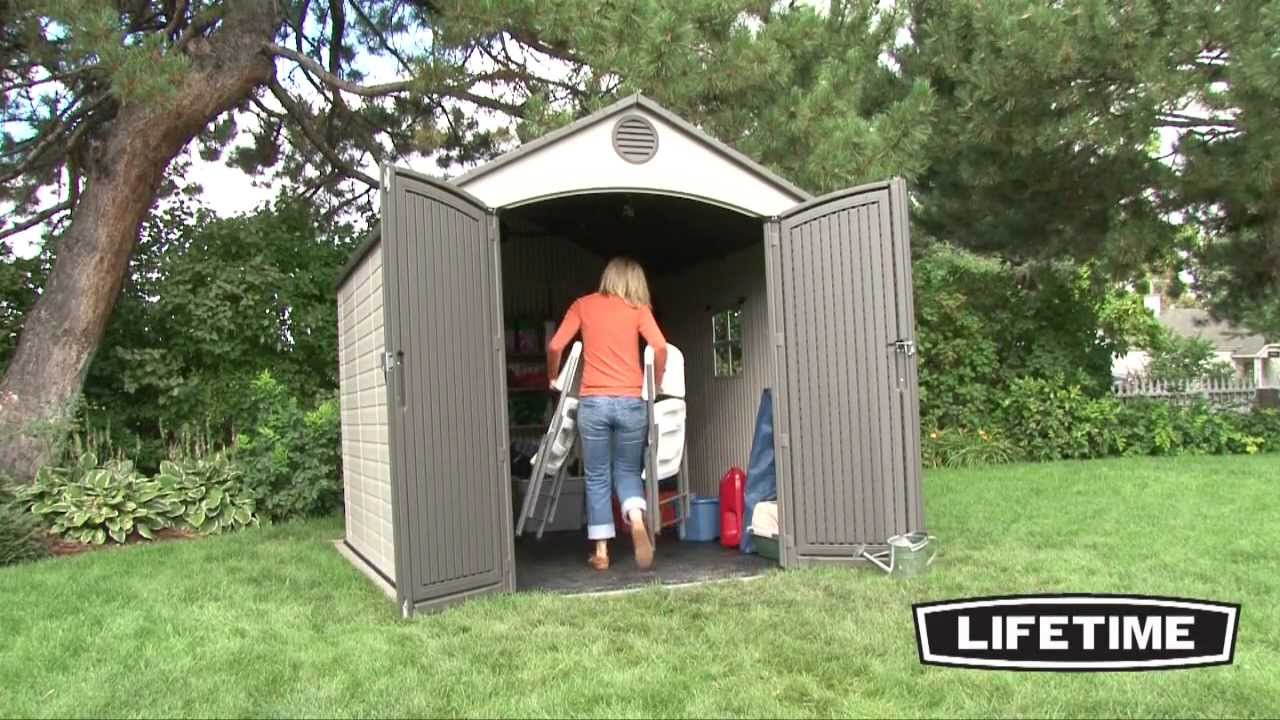 Lifetime 8 X 10 Foot Outdoor Storage Shed Model 6405
