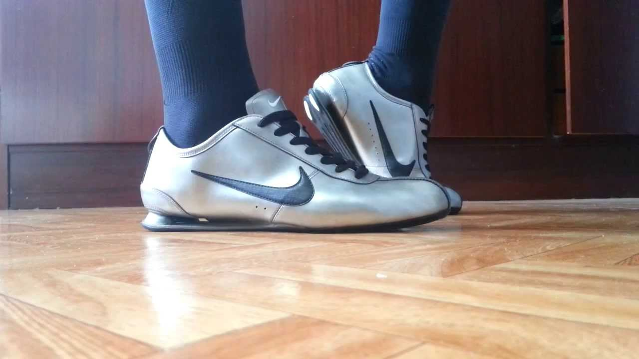pretty nice ea4ef 6f834 Nike shox rivalry grey and adidas soccer socks - YouTube
