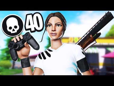 40 Kills Solo Squads On Controller