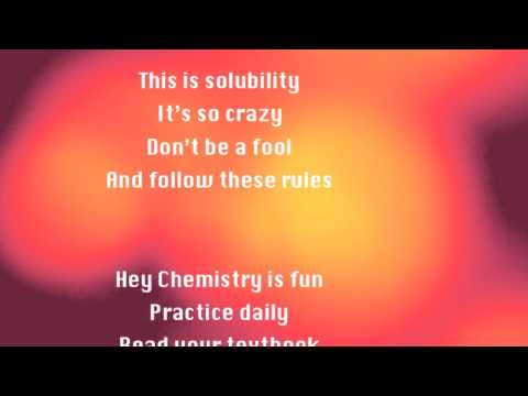 Solubility Rules (Call Me Maybe Parody)