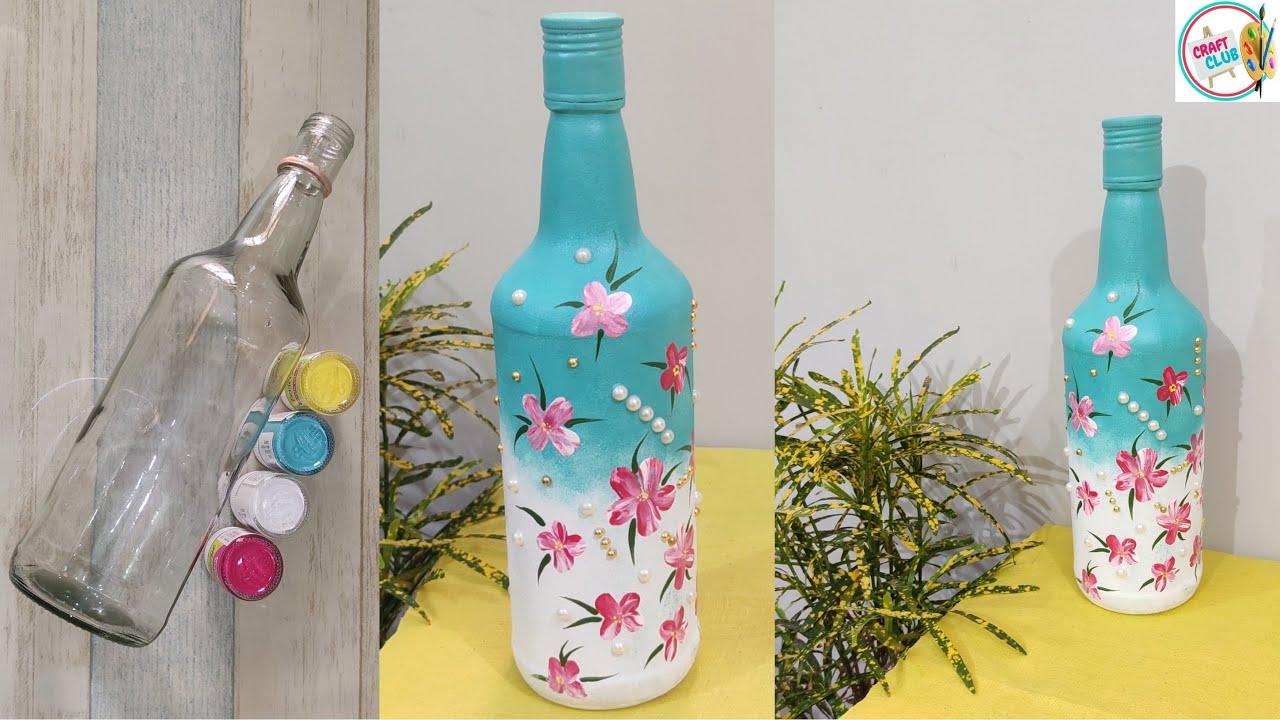 Very Easy Bottle Art Idea Bottle Art Simple Design Bottle Art Painting Youtube Simple bottle art with woolen thread. very easy bottle art idea bottle art simple design bottle art painting