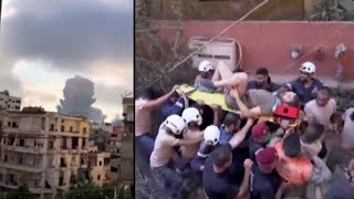 Man Trapped For Over 16 Hours Rescued From Beirut Wreckage