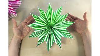 Sterne basteln mit Papier-Tüten. Weihnachtsdeko selber machen. DIY Weihnachten