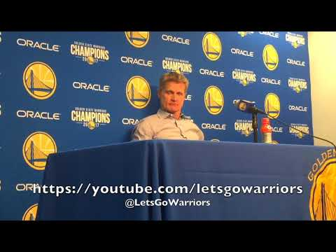STEVE KERR, postgame GSW (8-3) vs Miami Heat: East Coast style, defense, Draymond