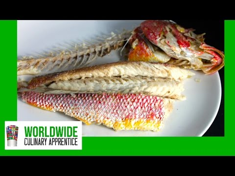 Fillet And Deboned Whole Cooked Fish - Removing The Bones And The Fillets From A Whole Cooked Fish -