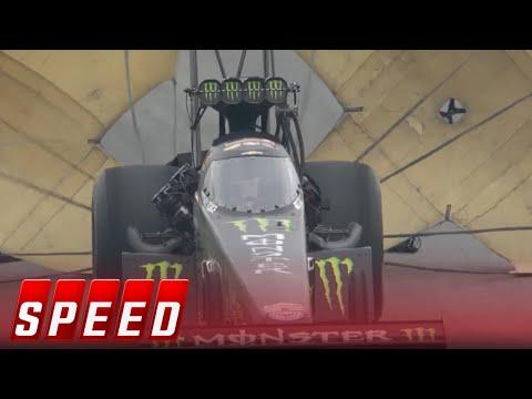 John Force breaks down in tears as Brittany wins Top Fuel title   2017 NHRA DRAG RACING