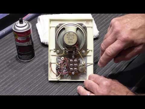 How to Clean the Controls on a NuTone N482 and N482BX Apartment Remote Station
