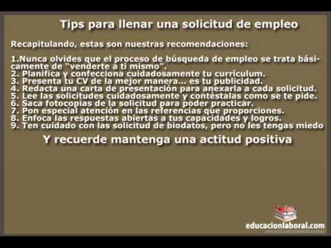 Solicitud De Empleo Videos Noticias4k Com
