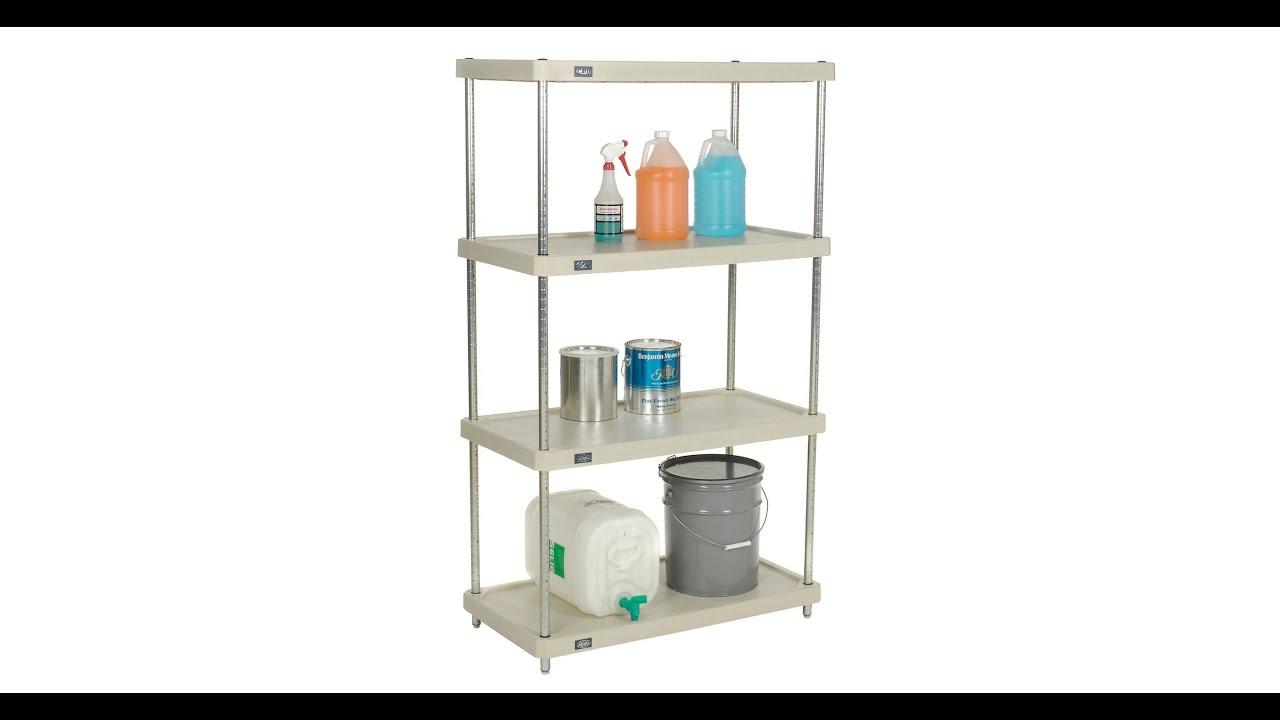 Plastic Shelving Units - YouTube