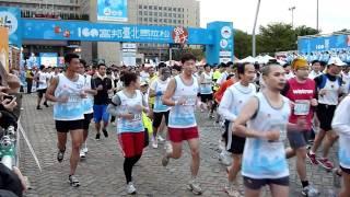 2011富邦馬拉松競賽組42k 21k 9k開跑