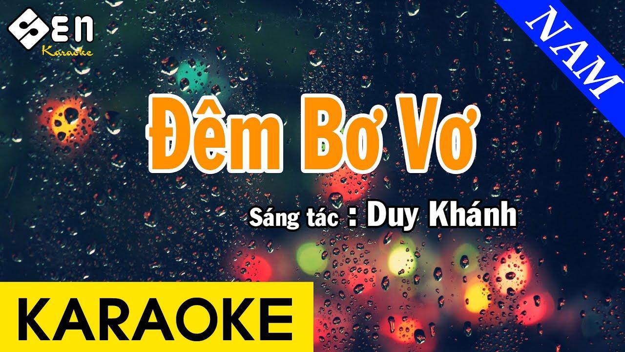 Karaoke Đêm Bơ Vơ Tone Nam Nhạc Sống - Beat Chuẩn Cực Hay