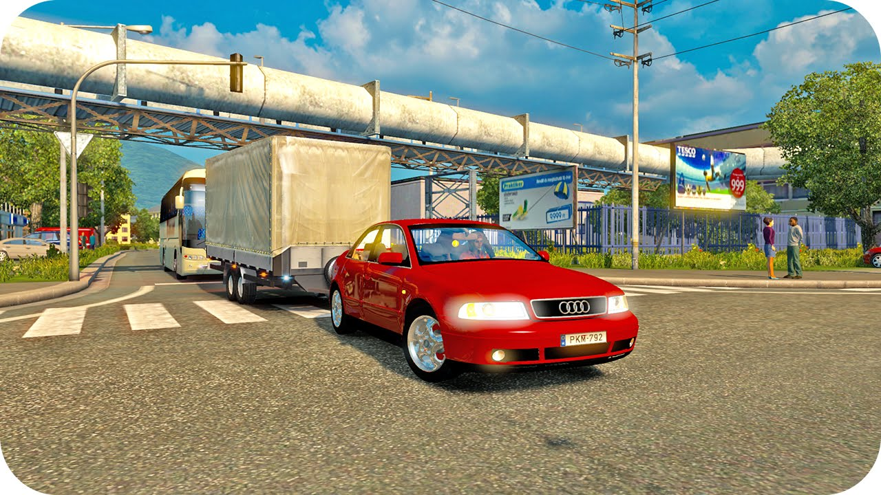 Audi A4 Driving Ets2 Euro Truck Simulator 2 Youtube