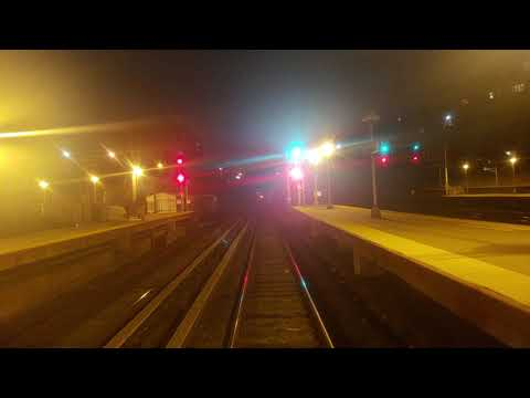 Long Island Railroad (LIRR) M3 Front Window Night Ride Penn Station to Douglaston