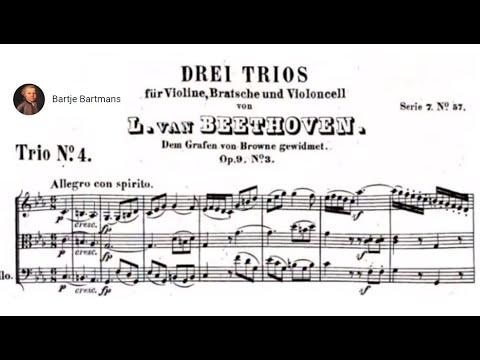 Beethoven - String Trio No. 4, Op. 9,  No. 3