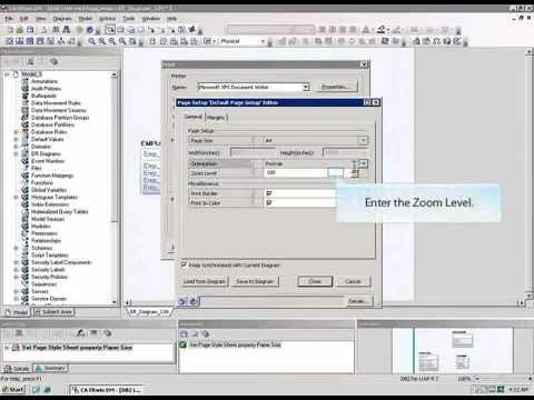 Erwin Data Modeler Print Enhancements Youtube