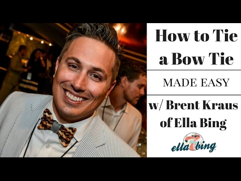 how to tie a bow tie made easy youtube. Black Bedroom Furniture Sets. Home Design Ideas