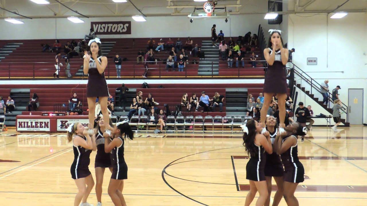 Killeen High School Cheerleaders at Lady Roos vs  Rouse basketball game  11-20-15