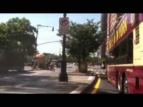 Handle Bar Cam NYC Bike Ride Mid Lower Manhattan - Down West Side/up East Side Trails