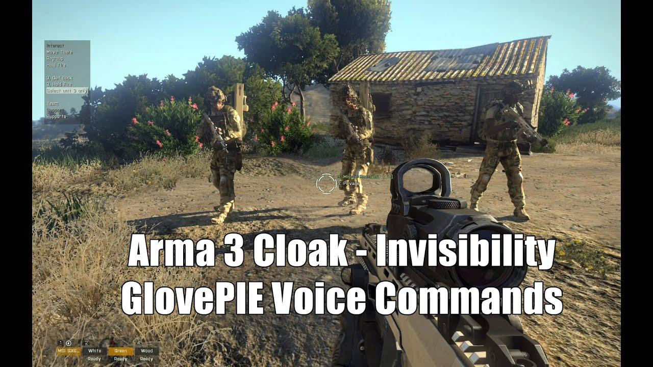 Arma 3 Cloak - Invisibility | GlovePIE Voice Commands